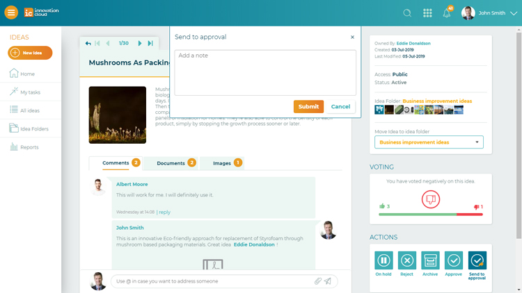 IC send to approval